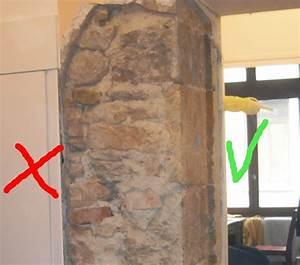 decaper un mur ancien en pierre couvert d39enduit ciment et With decaper un mur exterieur peint
