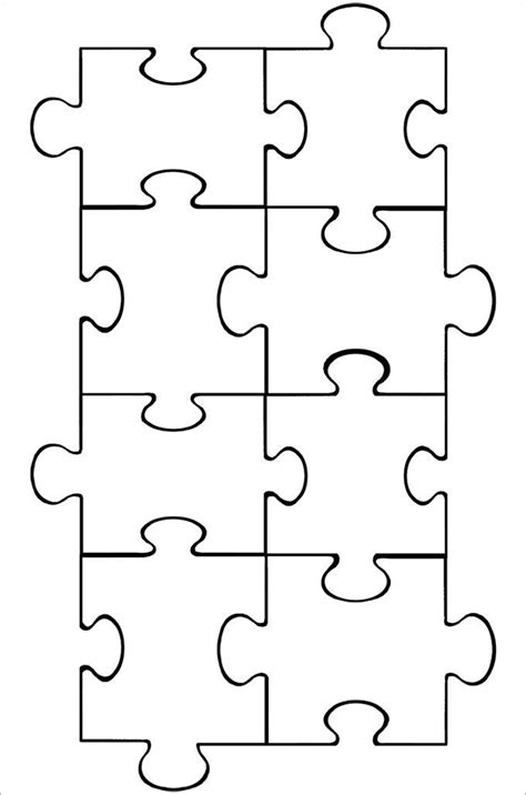 4 puzzle template puzzle template puzzle pieces puzzle pieces template and autism