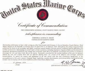 Certificate of commendation template just bcause for Usmc certificate of commendation template