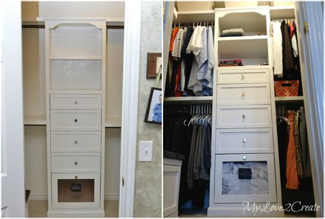 Closet Tower With Drawers by White The Two Towers Master Closet Makeover Diy