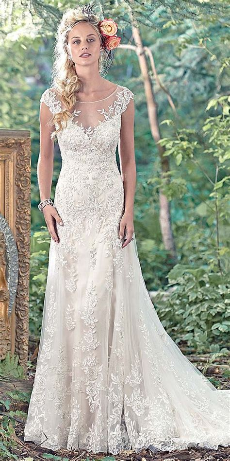 maggie sottero vintage lace wedding dress wedding deer