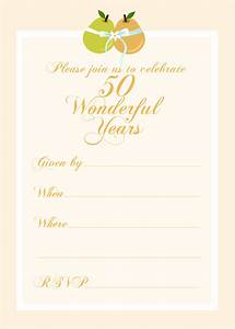 free printable party invitations free 50th wedding With template for 50th birthday invitations free printable