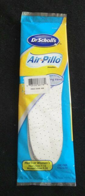 A firmer gel that supports. DR SCHOLL'S - AIR PILLO GEL INSOLES ULTRA-SOFT CUSHIONED ...