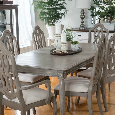 Your Tutorial to Arts and Crafts grey wood dining table set