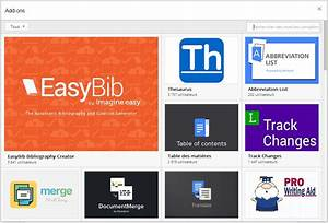 google docs une boutique pour installer des add on With google docs add ons store