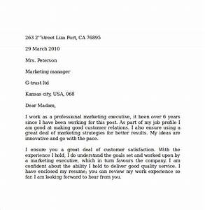 Cover Letter Sample Word 10 Marketing Cover Letter Examples To Download Sample