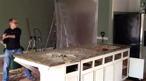 remove  granite countertop youtube