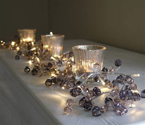 clear crystal led light garland graphite crystal light garland by red lilly