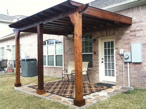 patio overhang ideas inspiring wood patio cover designs with wall mounted pergola kits from reclaimed wormy chestnut