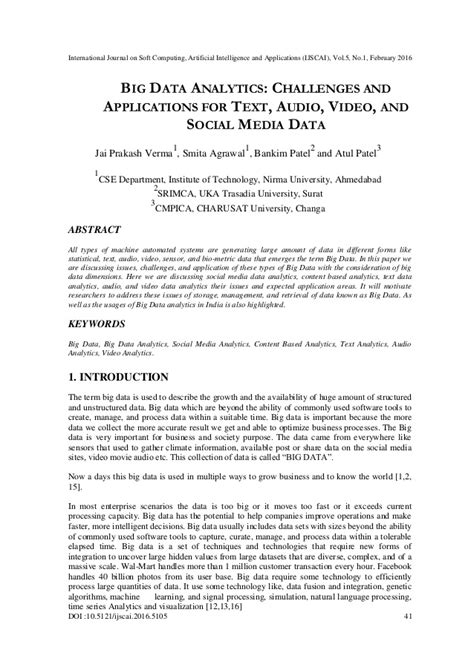 BIG DATA ANALYTICS: CHALLENGES AND APPLICATIONS FOR TEXT