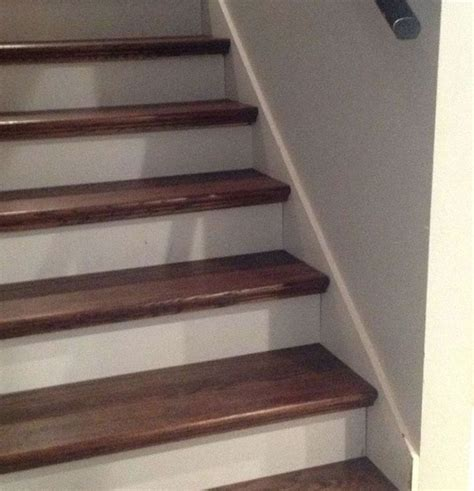 stairs lowes cheater trick for getting rid of carpet stairs the future red oak and stair treads