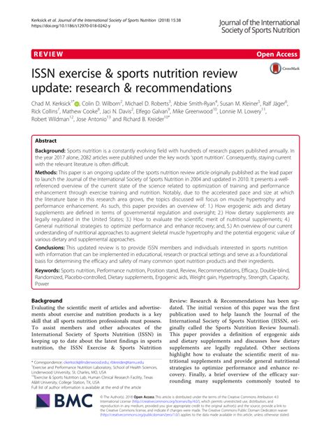 issn exercise sports nutrition review update