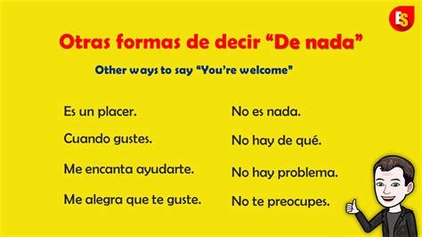 """How to say """"You're welcome"""" in Spanish without saying it ..."""