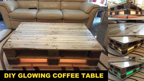 diy furniture project build  pallet coffee table glowing