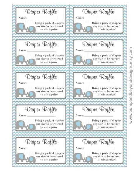printable diaper raffle ticket template diaper