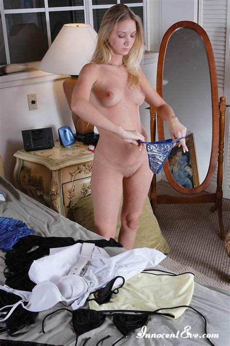 Blonde Teen Changing Clothes