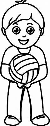 Coloring Volleyball Pages Basketball Court Printable Playing Clipartmag Boy Getcolorings Fresh sketch template