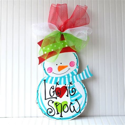 christmas door hangers ideas  pinterest