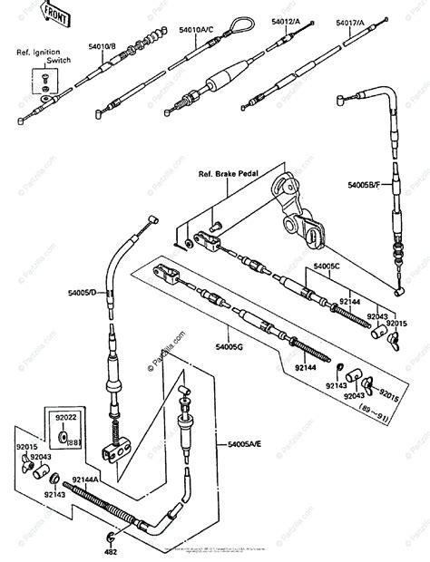 Kawasaki Atv Oem Parts Diagram For Cables Partzilla