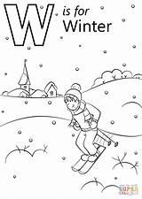 Coloring Winter Pages Letter Printable Alphabet Preschool Sheets Supercoloring Crafts Abc Words Letters Drawing Bible Paper Printables Dot sketch template