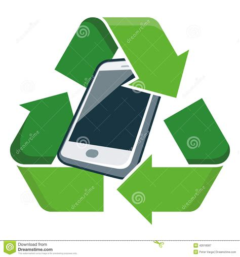 mobile recycle recycle mobile phone stock vector image 42618587