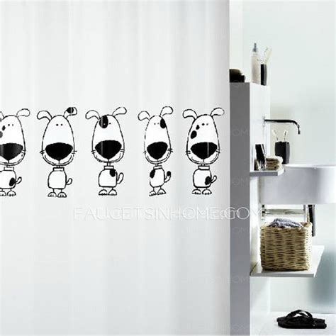 black and white peva discount patterned modern shower curtain