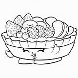 Coloring Salad Fruit Drawing Vegetable sketch template