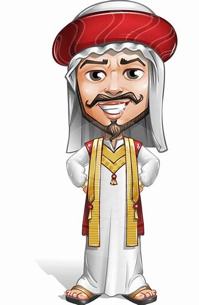 Arab Cartoon Character Vector Saami Sublime Traditional