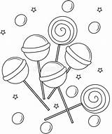 Lollipop Coloring Lollipops Pages Sheets Printable Clip Clipart Useful Dreamstime Preview Game Illustration sketch template