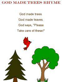 god  trees rhyme