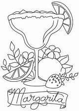 Margarita Coloring Happy Hour Embroidery Awesome Unique Designs Urban Threads Cool Drawing Machine Urbanthreads sketch template
