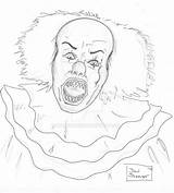 Pennywise Clown Coloring Drawing Pencil Pages Adult Dsc Ink Deviantart Teeth Drawings Colouring Clowns Prismacolor Pen Loved Movies Sheets sketch template