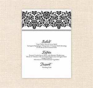 8 best images of printable menu cards for weddings With free printable wedding menu card templates