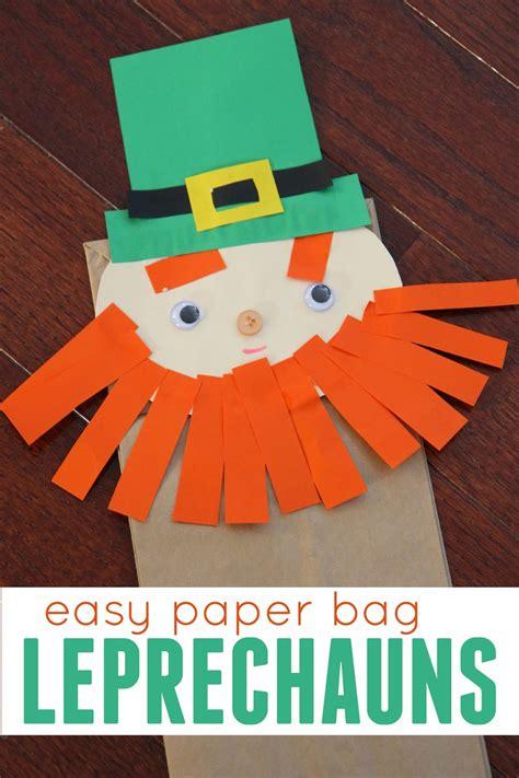 toddler approved 8 easy st s day crafts for 215 | easy%2Bpaper%2Bbag%2Bleprechains%2Bfor%2Bpreschoolers