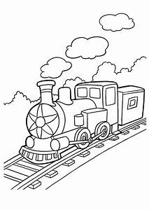 A Freight Train Coloring Page - Free Printable Coloring ...