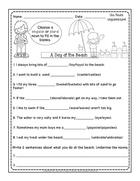 plural nouns worksheets grade 5 5 noun lessons you need to teach in 1st grade part 2