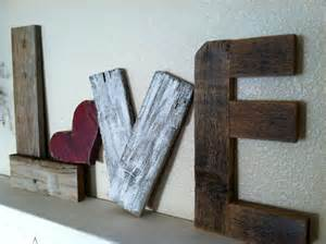 Valentine Home Decor Reclaimed Wood Rustic Love