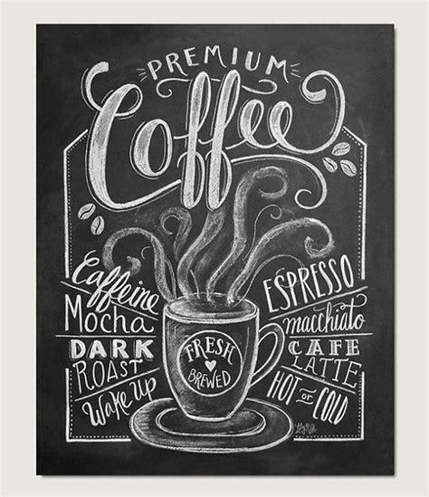 Folk art print personalized coffee shop. Coffee Love Coffee Art Print Chalkboard Art by LilyandVal   Coffee chalkboard, Chalkboard ...