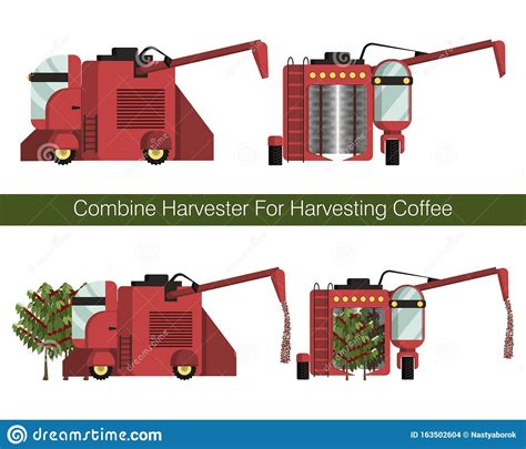 Free vector icons in svg, psd, png, eps and icon font. Combine Harvester For Mechanized Harvesting Coffee Berries In The Plantations Stock Vector ...