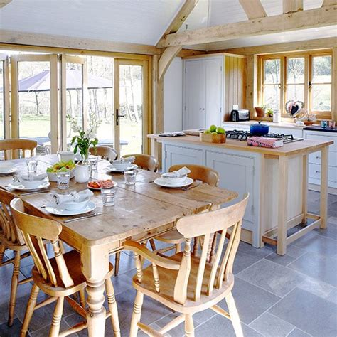 pictures of country homes interiors airy open plan kitchen space with farmhouse furniture