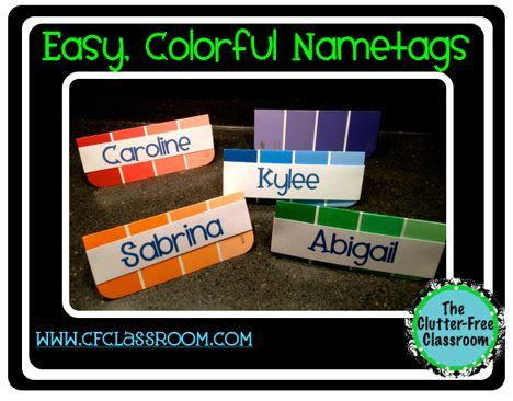 Cute, Colorful, And Free Name Tag Templates! (use Them On Desks, To Label Cubbies, To Hang On