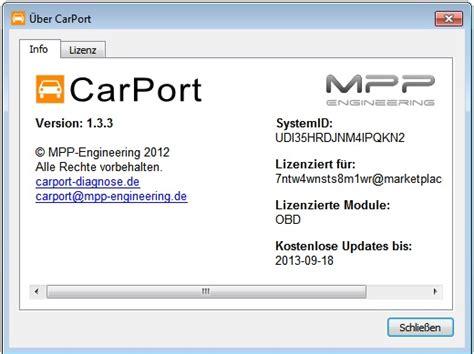 Carport Basismodul Obd2 Erforderlich Obd2diagnose