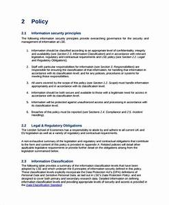 Sample It Security Policy Template