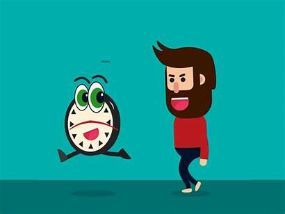 Running Away Dribbble Always Animation Plenty Them