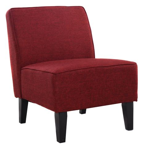 5 colors deco accent chair solid armless living room
