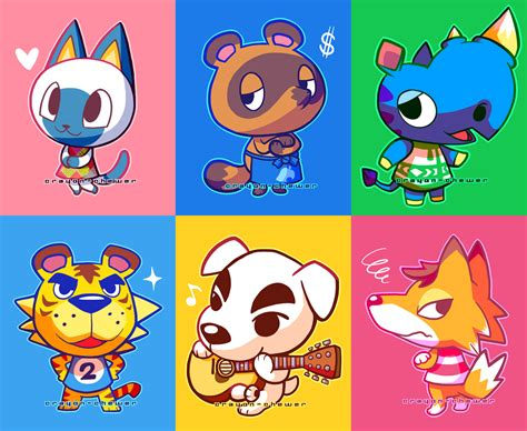 Where Do You Buy Wallpaper In Animal Crossing New Leaf - animal crossing villagers by crayon chewer on deviantart
