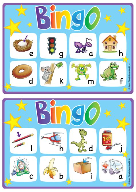 amp crafts resource type simple 104 | alphabet and vocabulary bingo game lowercase a m