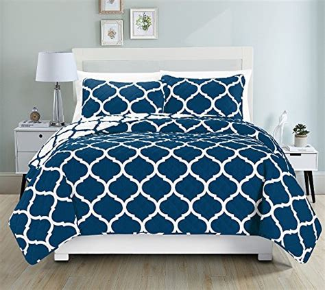 Royal Blue Coverlet by Awad Home Fashion 3 Quilt Bedspread Coverlet