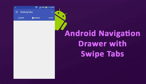 android navigation android navigation drawer with swipe tabs using material