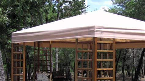 sams club wood hexagon gazebo replacement canopy youtube